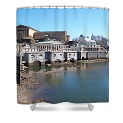 At The Philadelphia Waterworks Shower Curtain