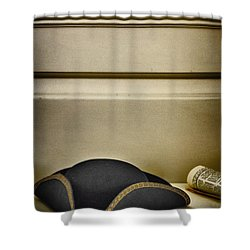 At The Ready Shower Curtain by Margie Hurwich