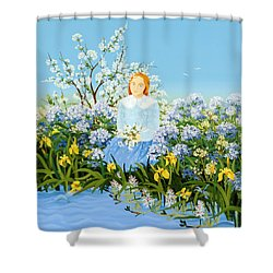 At The Shore Of Dreams Shower Curtain by Magdolna Ban