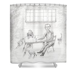 At The Table Shower Curtain