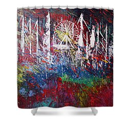 At The Top Shower Curtain by George Riney