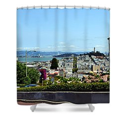 At The Top - Lombard Street Shower Curtain