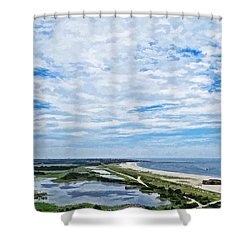 At The Top Of The Lighthouse Shower Curtain