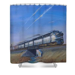 At Track Speed Shower Curtain by Christopher Jenkins