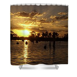 Atchafalaya Sunrise Shower Curtain