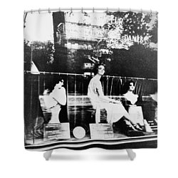 Shower Curtain featuring the photograph Atget Hairdresser, C1920 by Granger