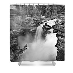 Athabasca Falls Shower Curtain