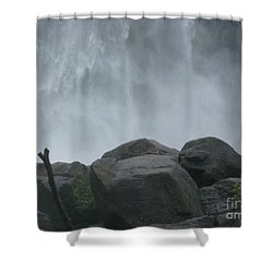 Shower Curtain featuring the photograph Athirapally Falls by Mini Arora