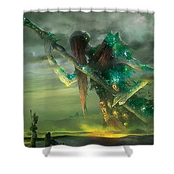 Athreos God Of Passage Shower Curtain