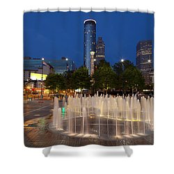 Atlanta By Night Shower Curtain