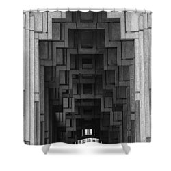 Atlanta Ga Architecture-city Building Shower Curtain