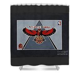 Atlanta Hawks T-shirt Shower Curtain