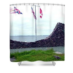 Shower Curtain featuring the photograph Atlantic Charter Historic Site by Barbara Griffin