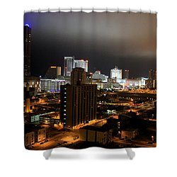 Atlantic City At Night Shower Curtain