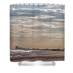 Atlantic City Skyline II Shower Curtain