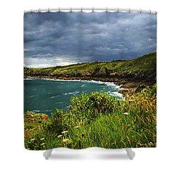 Atlantic Coast In Brittany Shower Curtain by Elena Elisseeva