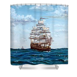 Atlantic Crossing  Shower Curtain by Lee Piper