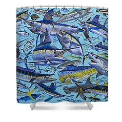 Atlantic Gamefish Off008 Shower Curtain by Carey Chen