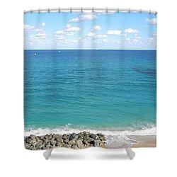 Atlantic Ocean In South Florida Shower Curtain
