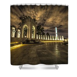 Atlantic Side Of The World War II Memorial Shower Curtain