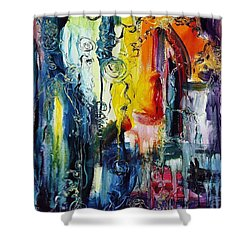 Atlantis Sinking Shower Curtain