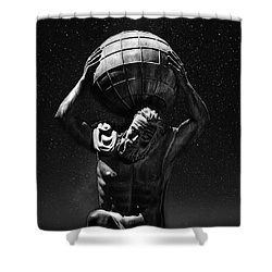 Atlas Shower Curtain by Beverly Cash