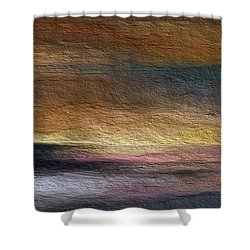 Shower Curtain featuring the digital art Atmosphere by Anthony Fishburne