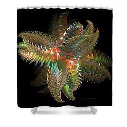 Atom Of Color Shower Curtain by Deborah Benoit