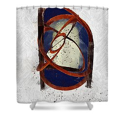 Atomic Truth Shower Curtain by RC deWinter
