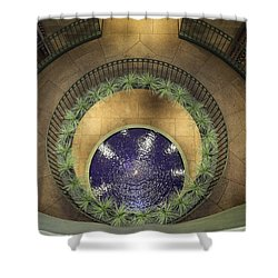 Atrium Wishing Well Shower Curtain by Lynn Palmer