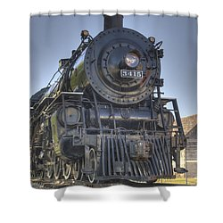 Atsf 3415 Head On Shower Curtain by Shelly Gunderson