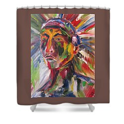 Atsila, Native American Shower Curtain