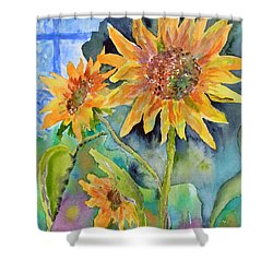 Attack Of The Killer Sunflowers Shower Curtain
