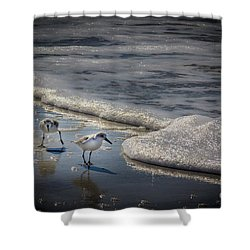 Attack Of The Sea Foam Shower Curtain