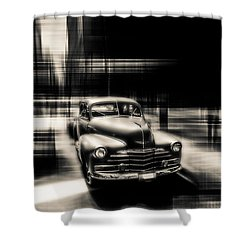 attracting curves III gray Shower Curtain by Hannes Cmarits