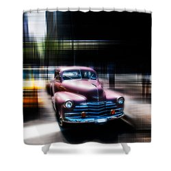 attracting curves III2 Shower Curtain by Hannes Cmarits