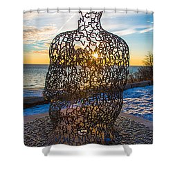 Atwater Spillover Sunrise Shower Curtain