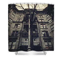 Au Revoir Shower Curtain by Taylan Apukovska
