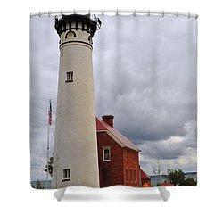 Au Sable Point Light Shower Curtain