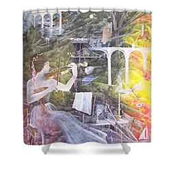 Aubry's Nocturne Shower Curtain