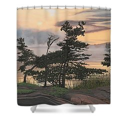 Auburn Evening Shower Curtain by Kenneth M  Kirsch