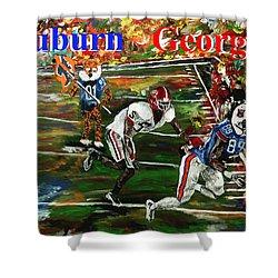 Auburn Georgia Football  Shower Curtain by Mark Moore