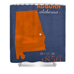 Merveilleux Auburn University Tigers Auburn Alabama College Town State Map Poster  Series No 016 Shower Curtain