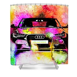 Audi A6 Avant Watercolor Shower Curtain