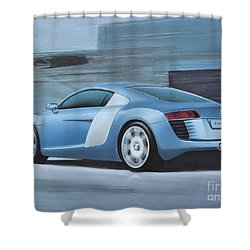 Audi R8 Lemans Concept Shower Curtain by Paul Kuras