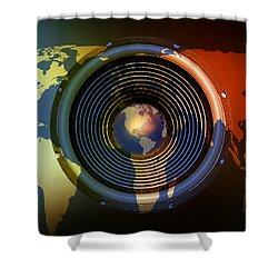 Audio World Shower Curtain