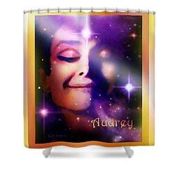 Audrey - Audrey Hepburn Shower Curtain by Hartmut Jager