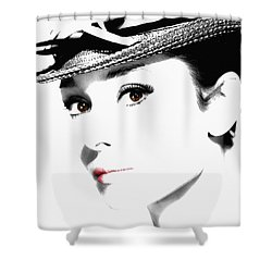 Audrey Hepburn 2 Shower Curtain by Andrew Fare