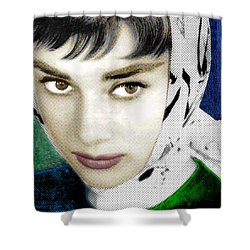 Audrey Hepburn Shower Curtain by Tony Rubino
