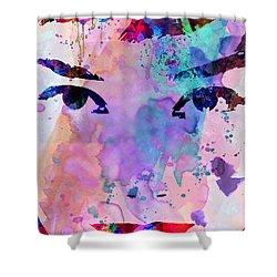 Audrey Watercolor Shower Curtain by Naxart Studio